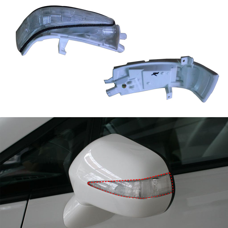 Right Left Rearview Mirror Side LED Turn Signal Light Lamp For Honda Civic 2006 2007 2008 2009 2010 2011 OEM:34300-SNB-013