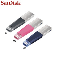 100% Genuine SanDisk USB Flash Drive for iphone ipad PC Metal U Disk 128GB 64GB Pendrive 32GB Original USB 3.0 Pen Drive
