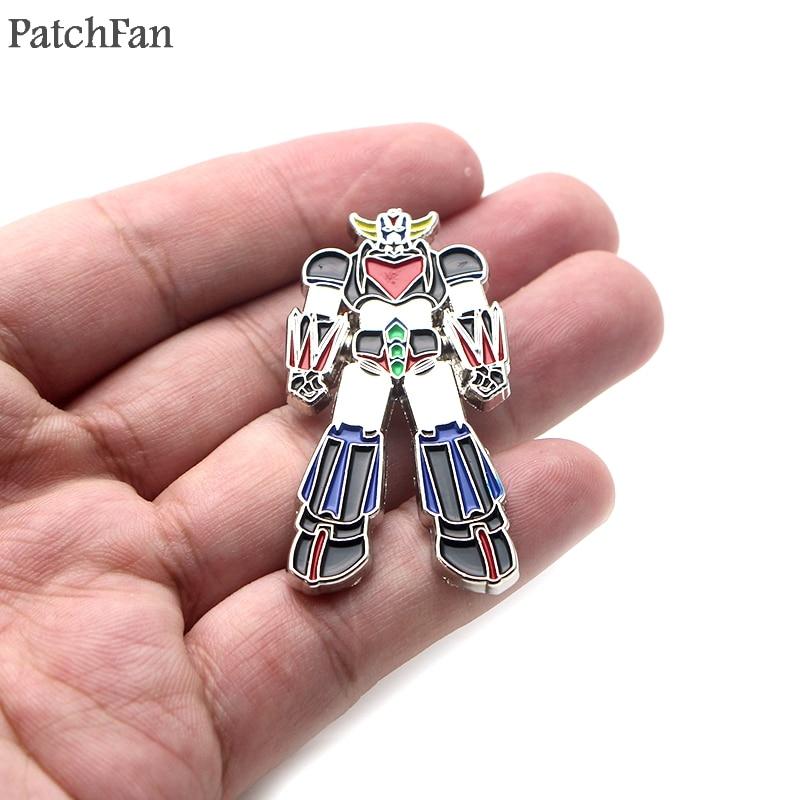 20pcs lot Patchfan UFO Robot Grendizer Metal Zinc pin Trendy medal backpack shirt clothes bag brooches