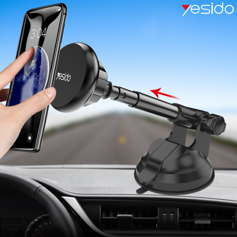 Yesido C41 Telescopic Magnetic Car Phone Holder Stand Dashboard Windshield Sucker Car Mount Holder For IPhone Samsung Car Holder