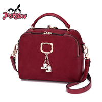 JUST STAR Women S PU Leather Handbags Ladies Leisure Shoes Tassel Tote Purse Female Fashion Flap