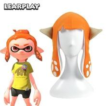 Splatoon 2 Splatfest Inkling Squid Cosplay Hat Orange Party Balaclava Cap Roliga Kostymer Tillbehör Present till Vuxen Barn
