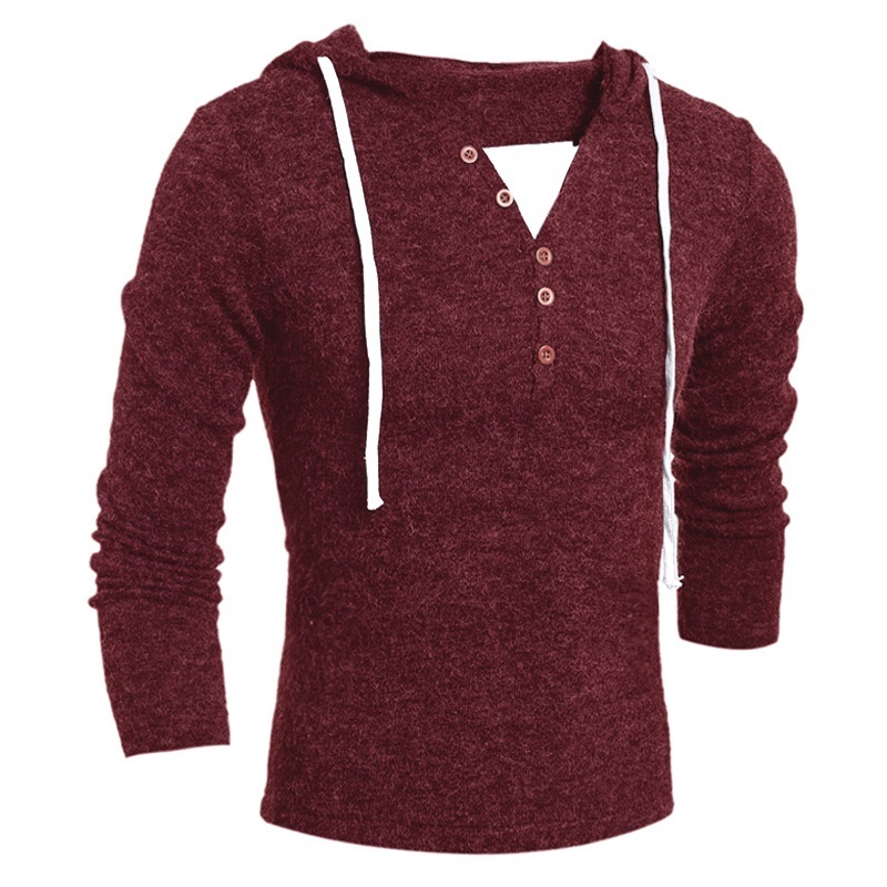 2019 Men Clothes Slim Fit Pullovers Brand Geek New Men's Sweaters Fashion Design Solid Hooded Knit Sweater Coat