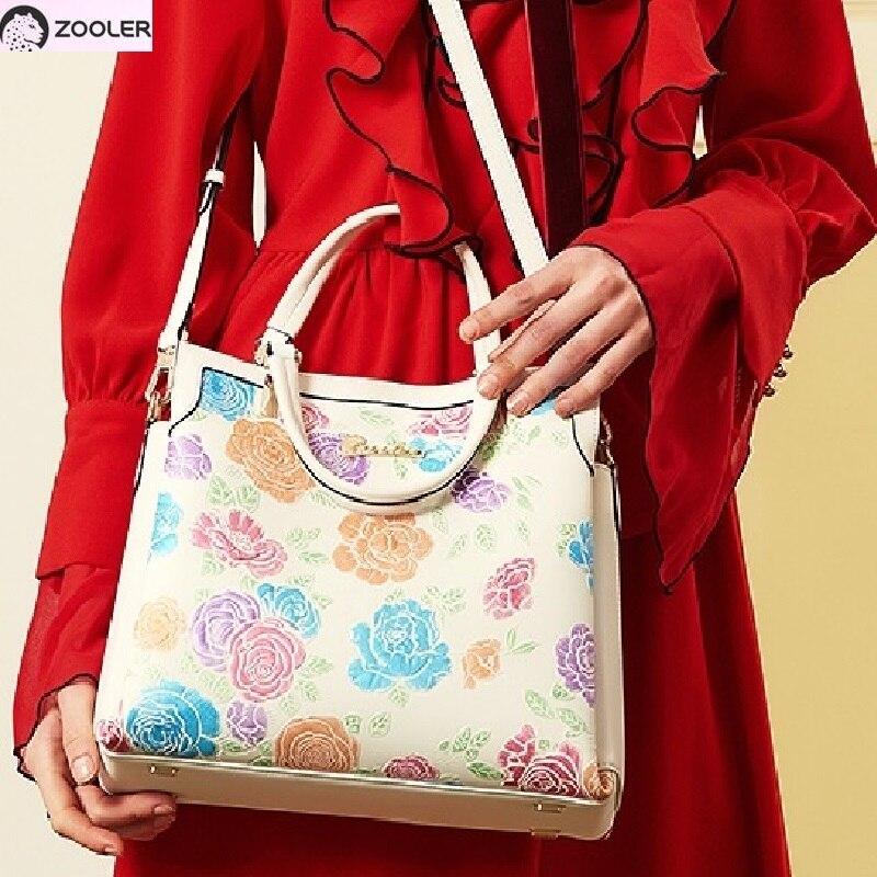 a042c027013e Продаж ZOOLER 2019 Роскошные Корова кожаные сумки женщин сумки дизайнерские  натуральная кожа сумки женская обувь высокого