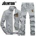 Jolintsai 2017 Sportswear Men Letter Casual Slim Hip Hop Tracksuit Streetwear Brand Clothing Sportswear Hoodies Sweatpant Set