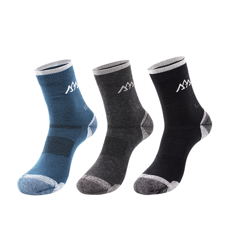 3Pairs/Lot Santo Men Women Hiking Socks Merino Wool Thicken Elastic Sweat Unisex Camping Sports Outdoor Running 6 Colors