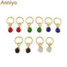 Anniyo маленькие каменные серьги для девочек и женщин с весенним кольцом золотого цвета мини-серьга Marshall Micronesia Ювелирные изделия Подарки#138806
