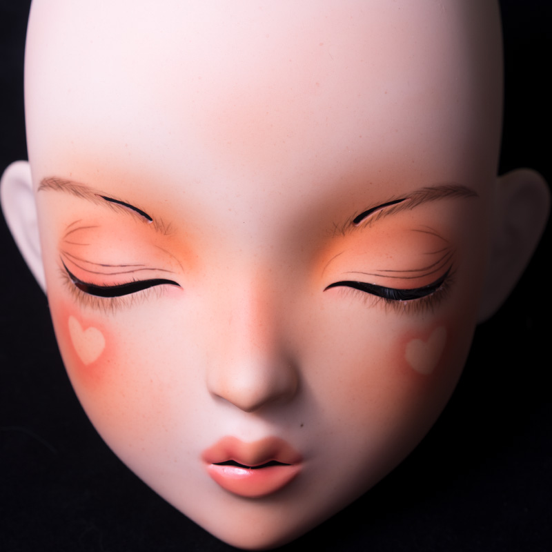 (LiLi Mask-16) Sweet Girl Resin Half Head Customize Cosplay Japanese Role Play Anime Silicone Kigurumi Mask Crossdresser Doll