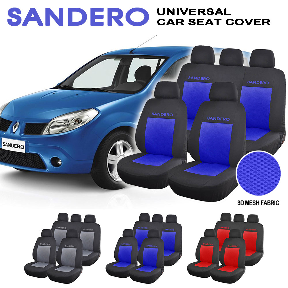 sandero full set 9 pieces universal car auto interior accessories fashion automotive car seat. Black Bedroom Furniture Sets. Home Design Ideas