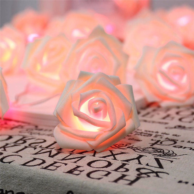 20 LED Novelty Rose Flower Fairy Strin (3)
