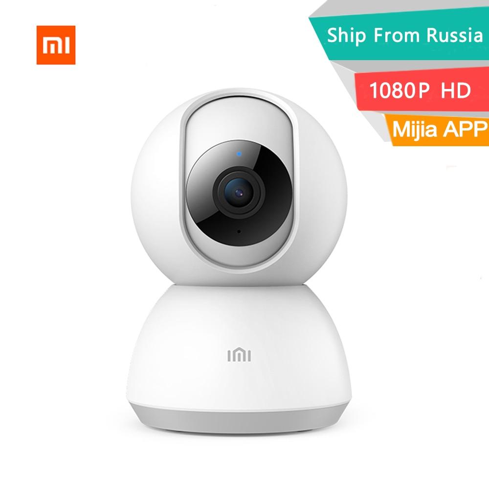 2019 xiaomi mijia câmera inteligente 1080 p hd visão de 360 graus webcam ptz versão visão noturna infravermelha wi fi câmera monitor chamadas remotas