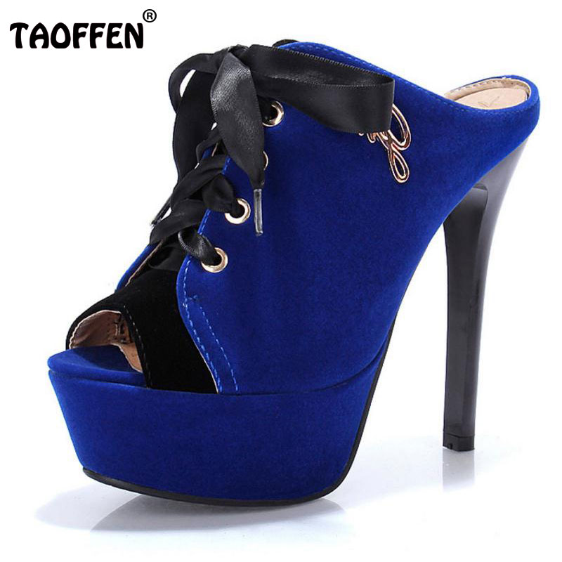 TAOFFEN Free shipping quality high heel sandals fashion women dress sexy shoes platform pumps P14167 Hot sale EUR size 34-43 free shipping candy color women garden shoes breathable women beach shoes hsa21