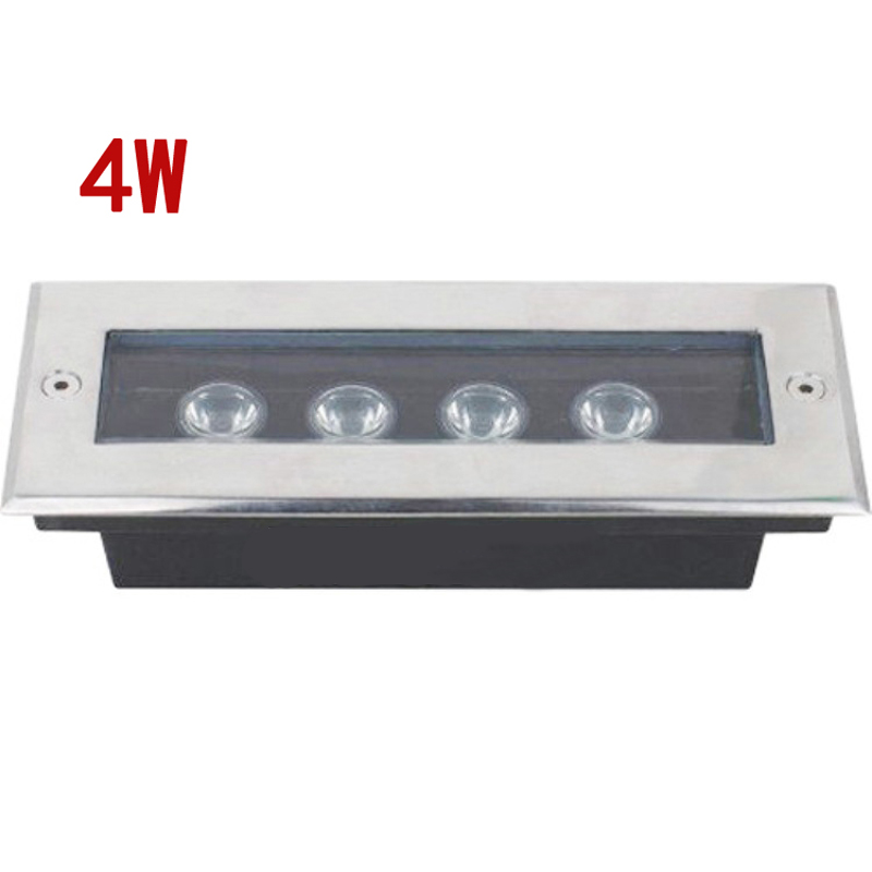 L200*w80*h60mm Rectangle 4w Led Underground Light Led Garden Light Outdoor Waterproof Ip67 Laminate Flooring Lamp Aggressive 10pcs/lot