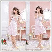 Ladies Sexy Silk Satin Night Dress Sleeveless Nighties V-neck Nightgown Plus Size Nightdress Lace Sleepwear Nightwear for Women недорого