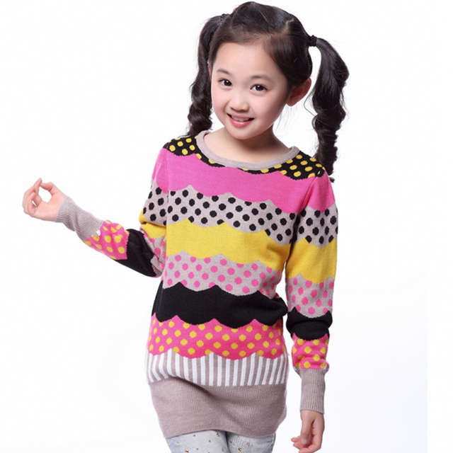 Fashionable Style kids sweaters spring Autumn children knitted cardigans girls Turtle Neck Sweater pollovers