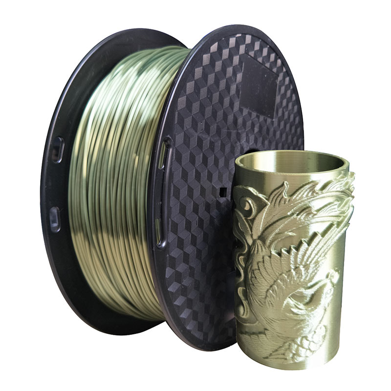 3d printer silk pla bronze filament 1.75mm silky bronze 1KG 3D printing material metal like feel PLA