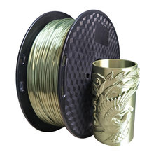 3d printer silk pla bronze filament 1.75mm silky bronze 1KG 3D printing material metal like feel PLA