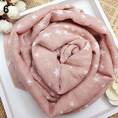 Горячая Распродажа; детская теплая шаль со звездами и пентаграммой для девочек; сезон осень-зима; подарочные накидки; мягкий шарф; N83Y 7FYA - Цвет: 6