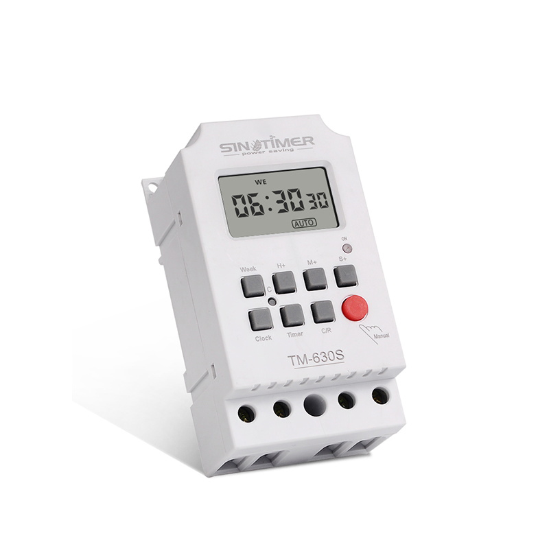 AC220V Second Interval Digital Timer Switch 24hr 7 Days Weekly Programmable Time Relay Voltage Output High Load Power 30A
