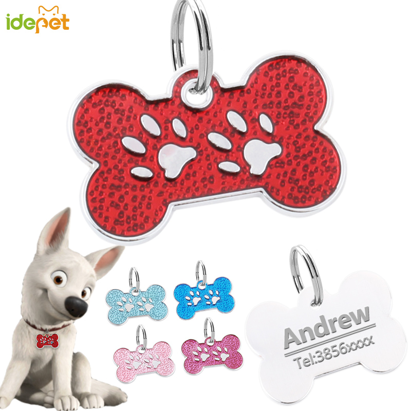 Customized Dogs Cats Collars Harnesses Dog Sheet Personalized Dogs ID Tag Free Engraved Collar for Dog Name Phone Pet Product 15