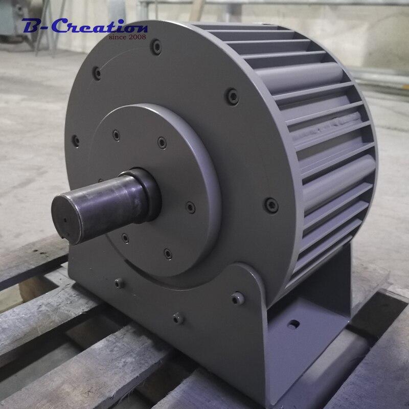 Prix d'usine 5000 w/5KW vent générateur de puissance À Bas RÉGIME AC 220 V 380 V Trois Phases Générateur à Aimant Permanent pour un usage domestique
