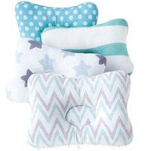 Cojín de protección para la cabeza Muslinlife, almohada para bebés recién nacidos, almohadas para niños con estampado Animal, almohada de algodón para niños, posicionador de sueño, Dropship