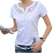 FEKEHA קיץ חולצה נשים מקרית ליידי למעלה Tees כותנה לבן חולצת טי נקבה מותג בגדי T בתוספת גודל 4XL