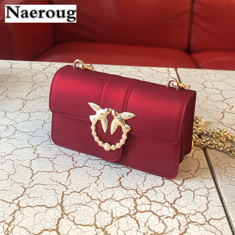 Luxury Designer Lady Swallow Lock Messenger Bags Famous Brand Women Matte Leather Handbag Chain Jelly Shoulder Bag Sac A Main