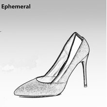 Mujeres Bling Pumps microfibra Zapatos tacones altos extremos Mujer Stilettos For negh Club novia fiesta Oro Negro Plata 10/8cm(China)