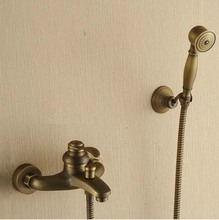 Wholesale And Retail luxury Bathroom Shower Set Faucet Antique Brass Hot And Cold Water Shower Faucet