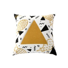 Soft Short Plush Pillow Case Backing Hold Seat Cushion Square Throw Cover Pineapple Graphic Series