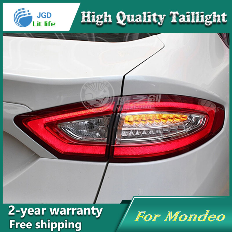 Car Styling Tail Lamp for Ford Mondeo 2013-2016 Taillights LED Tail Light Rear Lamp LED Ford Mondeo Tail Lights Taillights car rear warning lamp for ford ecosport 2013 2015 external automobiles for anti collision rear end auto safe driving lights
