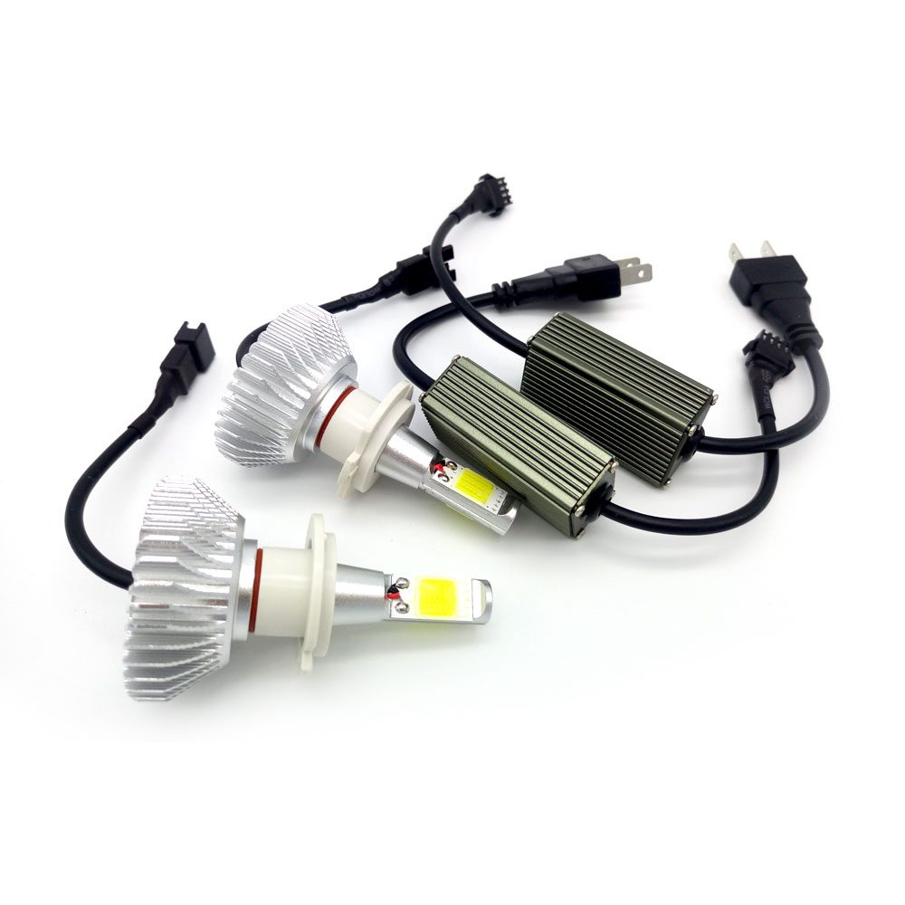 12v 40w Auto Car LED Headlight H1 H3 H7 H8 H9 H11 H4 9005 9006 880 881 COB 6000k White Waterproof Bulb Foglight Pure White auxmart car led headlight h4 h7 h11 h1 h3 9005 9006 9007 cob led car head bulb light 6500k auto headlamp fog light