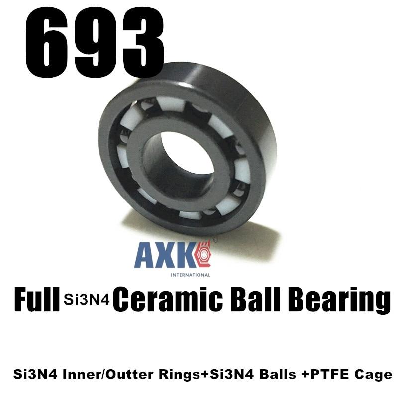 все цены на 693 Mini si3n4 full ceramic ball bearing 3*8*3mm 619/3 CB онлайн
