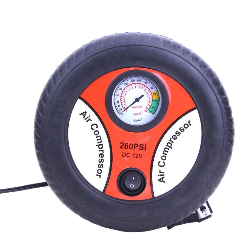 12 V bomba de V aire bomba inflable neumático eléctrico Monitor de presión Compres COCHE SEGURO regalo neumático 19 cilindro Mini bomba de aire nuevo