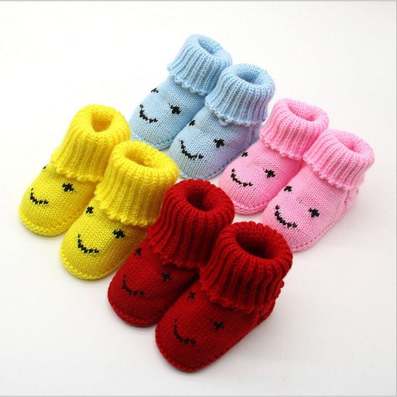 Newborn Baby Socks First Walkers Baby Slippers Boot Infant Crochet