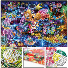 "Penuh 5D Kristal Putaran Bor Berlian Lukisan ""Dis Mickey Mouse"" DIY Berlian Bordir Cross Stitch Mosaic Rhinestone Decor(China)"