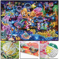 "Full 5D Crystal Round Drill Diamond Painting ""Dis Mouse"" DIY Diamond Embroidery Cross Stitch Mosaic Rhinestone Decor"