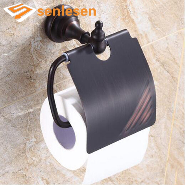 Us 33 92 36 Off Whole And Retail Oil Rubbed Bronze Bathroom Toilet Paper Holder Wall Mounted Tissue Bar Roll Stand In Holders From