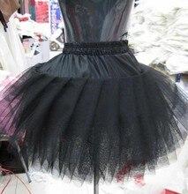 Petticoat Schwarz Kurze Unterröcke Für Abendkleid Jupon Tüll Neue Krinoline BV-056
