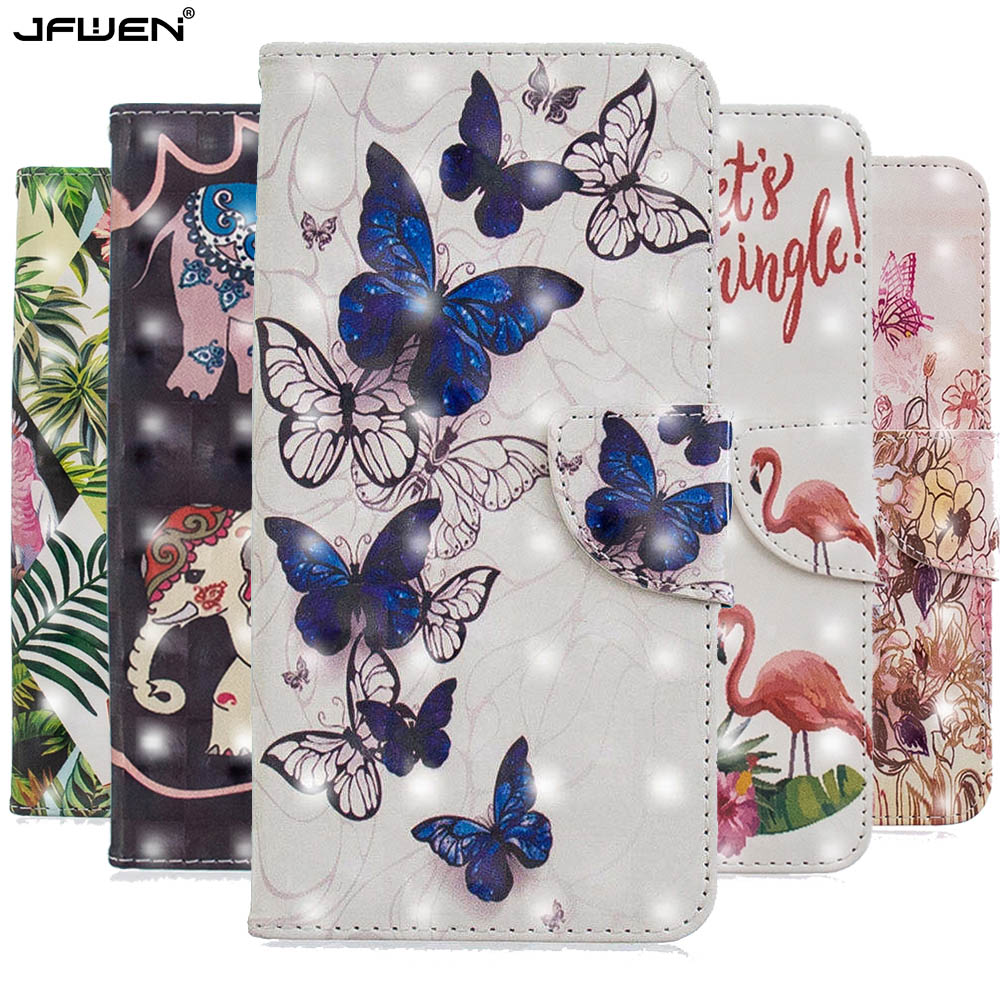 100% Quality Jfwen Flip Leather Wallet Case For Samsung Galaxy M20 M10 A10 A20 A30 A40 A50 A70 Case Cover 3d Cartoon Cute Book Phone Cases