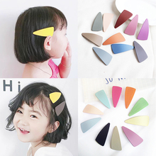 Hot 1PC Candy Geometrical Triangle BB Hair Clip for kids Korean child Seaside hair band