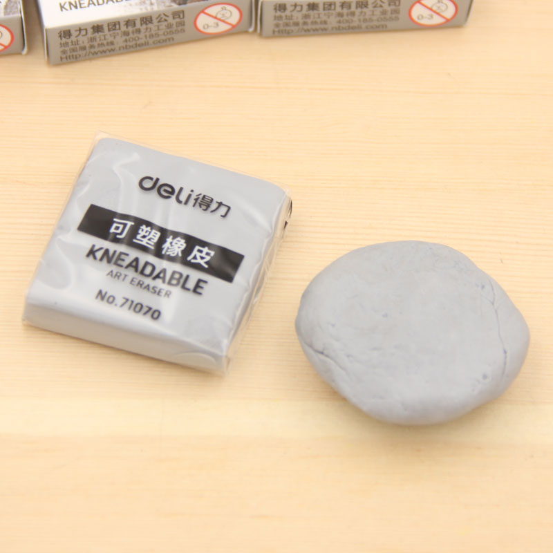 Kneadable Art Erasers Very Soft Grey Color Sketch Professional Drawing Pencil Eraser School Students Kids Art Class Funny 71070