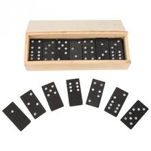 28Pcs/Set Wooden Domino Board Games Domino Toys Travel Funny Table Game 2018 Kid Children Educational Toys For Children Gifts frog eating beans 2018 funny board games toys for children interactive desk table game family game educational toys kid gifts