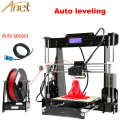 Anet Auto Leveling Optional High Precision Reprap Prusa 3d printer DIY Kit With Free 1Roll Filaments Aluminum Hotbed LCD Gift
