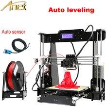 Анет автоматическое выравнивание дополнительно Высокая точность RepRap Prusa 3D принтер DIY Kit с Бесплатная 1 рулон нити алюминиевый очаг ЖК-дисплей подарок