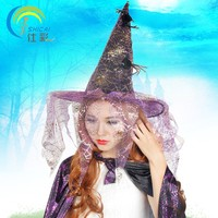 Witch Hat With Spider Halloween Costume CosplayParty Activities Sorcerer Wizard Dress Up Christmas