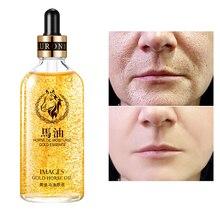24k Gold Horse Serum Oil Korea Face 100ML Anti-Wrinkle Skin Care Shrink Pore Ess
