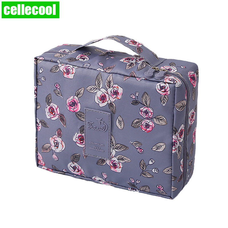 Multifunction Brand Women Cosmetic Bag  Organizer Waterproof Portable Makeup Bag Travel Necessity Beauty Case Wash Pouch Travel