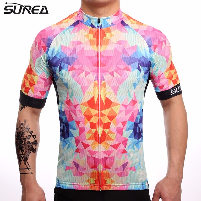 4941e6286 SUREA 2017 Summer Breathable Cycling Jersey Mtb Cycling Clothing Bicycle  Short Maillot Ciclismo Sportwear Bike Clothes  AW01